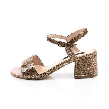 Sandale piele naturala presaj maro  Masi