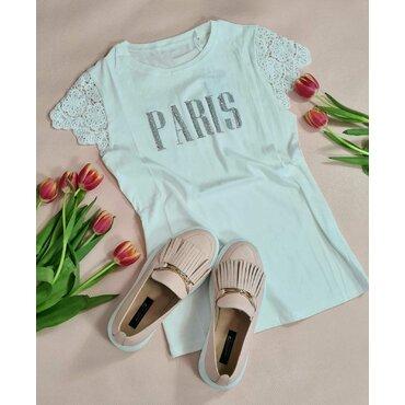 Tricou alb de dama Paris