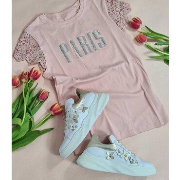 Tricou roz de dama Paris