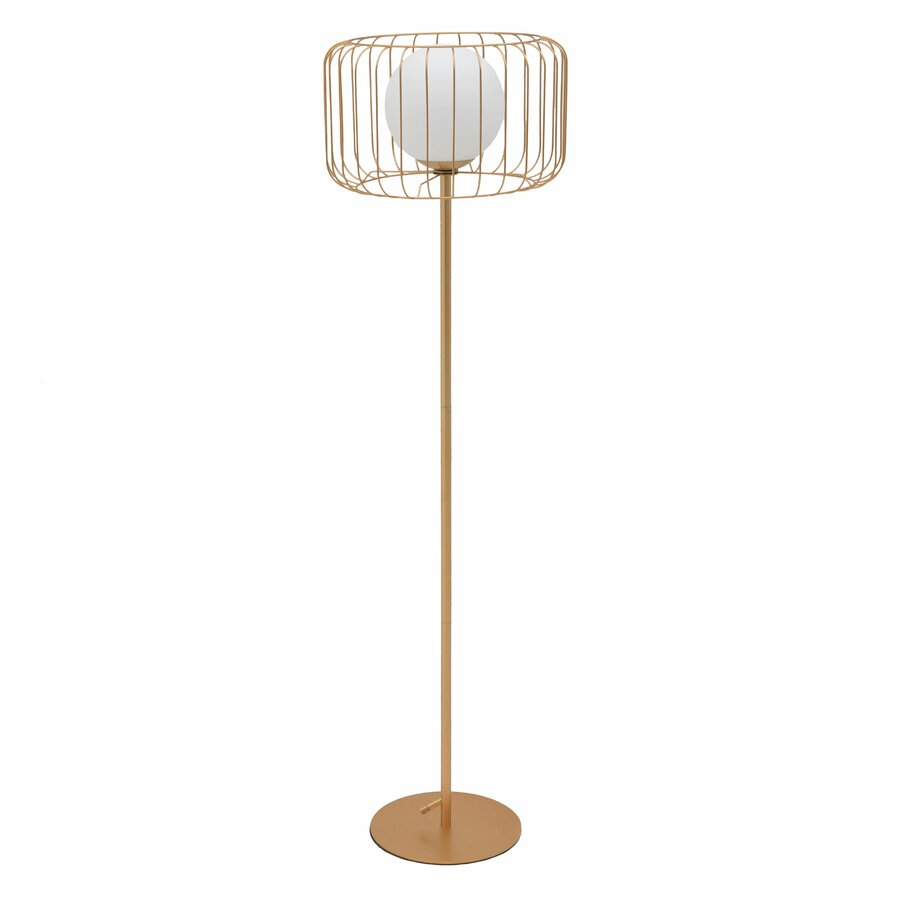 Agave Lampadar Metal Auriu