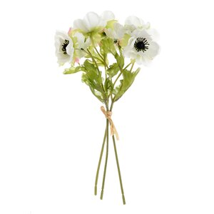 Anemous Floare artificiala, Platisc, Alb