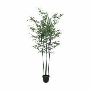 Bambus copac artificial mare in ghiveci, Plastic, Verde