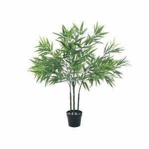 Bambus copac artificial mic in ghiveci, Plastic, Verde