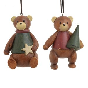 Bear Set 2 decoratiuni suspendabile urs, Polirasina, Maro