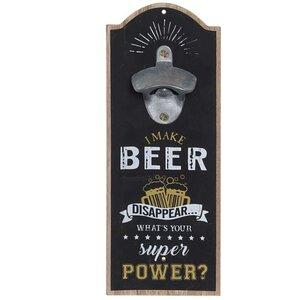 Beer Deschizator de sticla, MDF, Negru