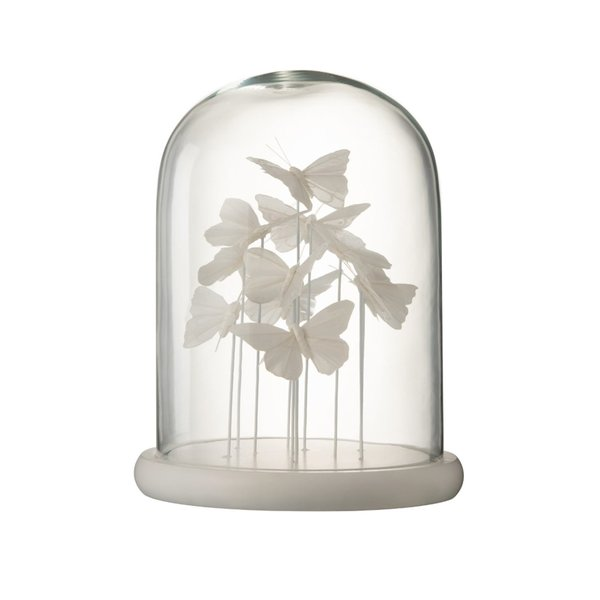 Bell Buttefly Decoratiune dom mare, Sticla, Alb