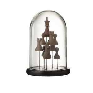 Bell Chess Decoratiune dom mica, Sticla, Maro