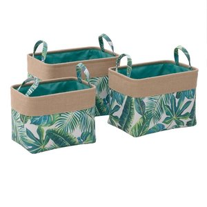 Beverly Set 3 Cosuri frunze, Textil, Verde