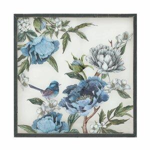 Bird Tablou, Lemn, Albastru