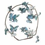 Butterfly Ghirlanda cu fluturi, Textil, Albastru