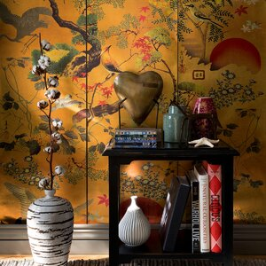 Byobu Metallic Tapet, Netesut, Multicolor