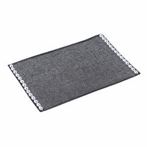 Canace Set 6 suporturi farfurii, Textil, Negru