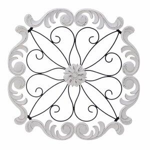 Carv Decoratiune perete, Lemn, Alb