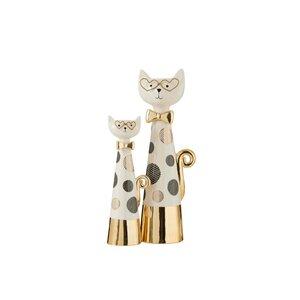 Cat Decoratiune pisica mare, Ceramica, Alb