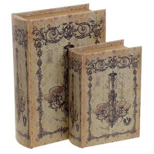 Chelone Set 2 cutii decorative, Lemn, Multicolor