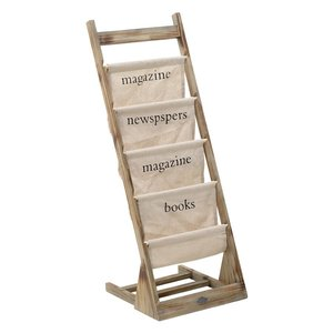 Clark Suport reviste, Lemn, Crem