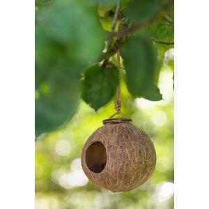 Coconut House Casuta pentru pasari, Lemn, Maro