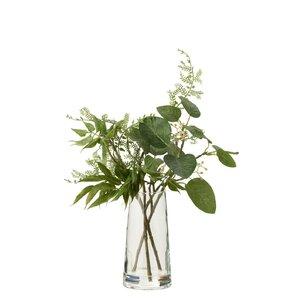 Dany Vaza mare cu plante artificiale, Plastic, Verde