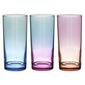 Darrel Set 6 pahare, Sticla, Multicolor