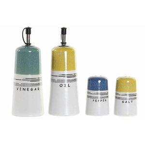 Deion Set oliviera 4 recipiente, Ceramica, Multicolor
