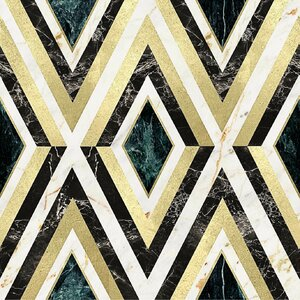 Diamonds Brass Tapet, Netesut, Multicolor