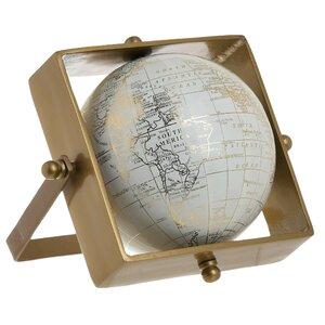 Earth Decoratiune glob, Metal, Auriu