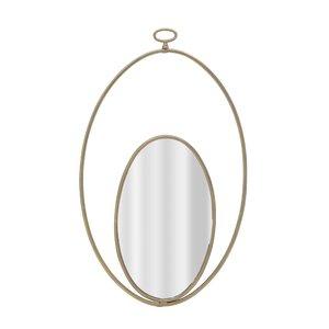 Egg Oglinda perete, Metal, Auriu