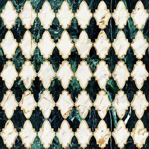 Empire Emerald Tapet, Netesut, Multicolor