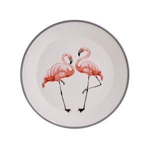 Flamingo Platou, Ceramica, Alb