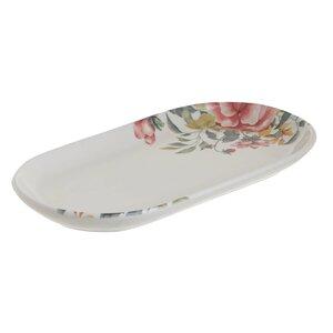 Flora Platou servire, Ceramica, Alb