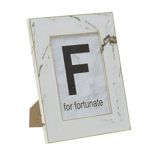 Fortunate Rama Foto mare, Plastic, Alb