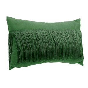 Fringes Perna decorativa, Textil, Verde