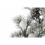 Garddy Ghirlanda decorativa cu zapada si Led, Textil, Verde