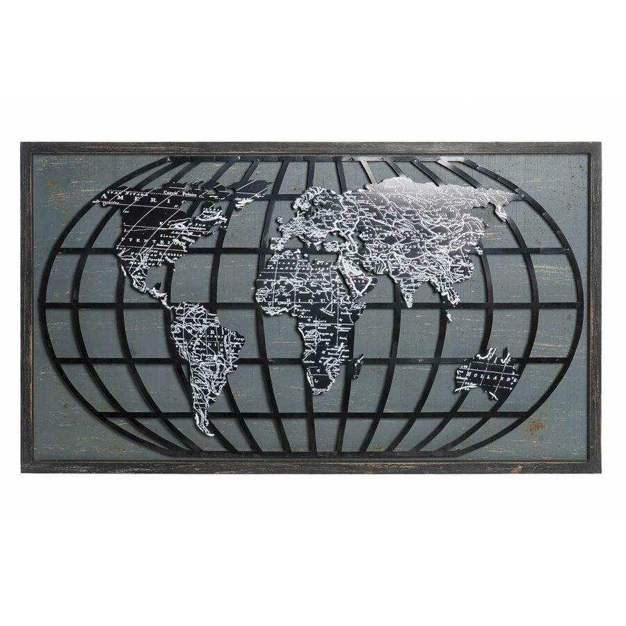Glob Decoratiune Perete Metal Negru