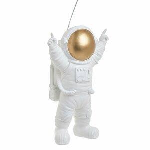 Happy Deoratiune suspendabila astronaut, Polirasina, Alb