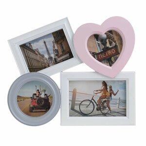 Heart Rama foto, Plastic, Multicolor