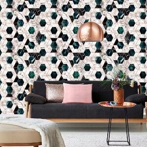 Hexa Jade Tapet, Netesut, Multicolor