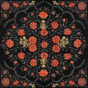 Hindu Bloom Anthracite Set 3 role tapet, Netesut, Multicolor