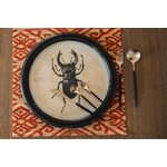 Insects Set 3 decoratiuni perete, Lemn, Negru