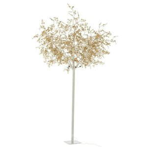Jacob Copac artificial mare cu LED, Metal, Auriu