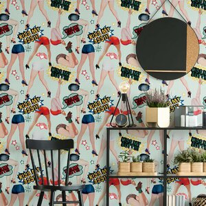 Kiss My Ass Set 3 role tapet, Netesut, Multicolor
