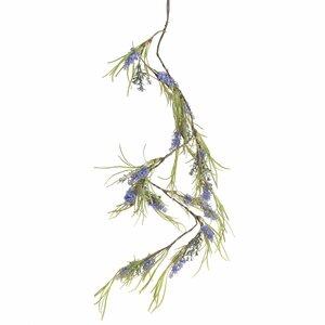 Lavender Ghirlanda decorativa, Plastic, Verde