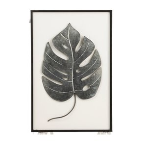 Leaf Fall Decoratiune perete, Metal, Negru