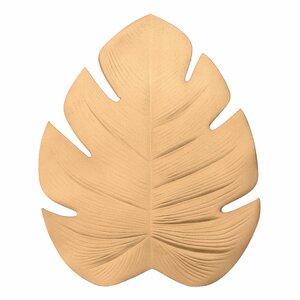 Leafet Suport farfurie frunza, PVC, Auriu