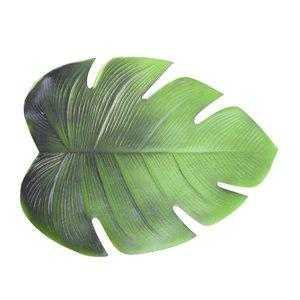 Leafet Suport farfurie frunza, PVC, Verde