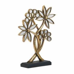 Lela Decoratiune floare, Polirasina, Auriu