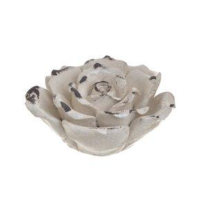 Liberty Decoratiune trandafir mica, Ceramica, Crem