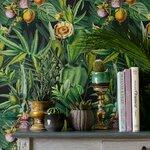 Luscious Flora Set 3 role tapet, Netesut, Verde