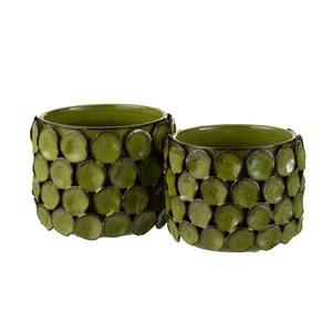 Malou Ghiveci mare, Ceramica, Verde
