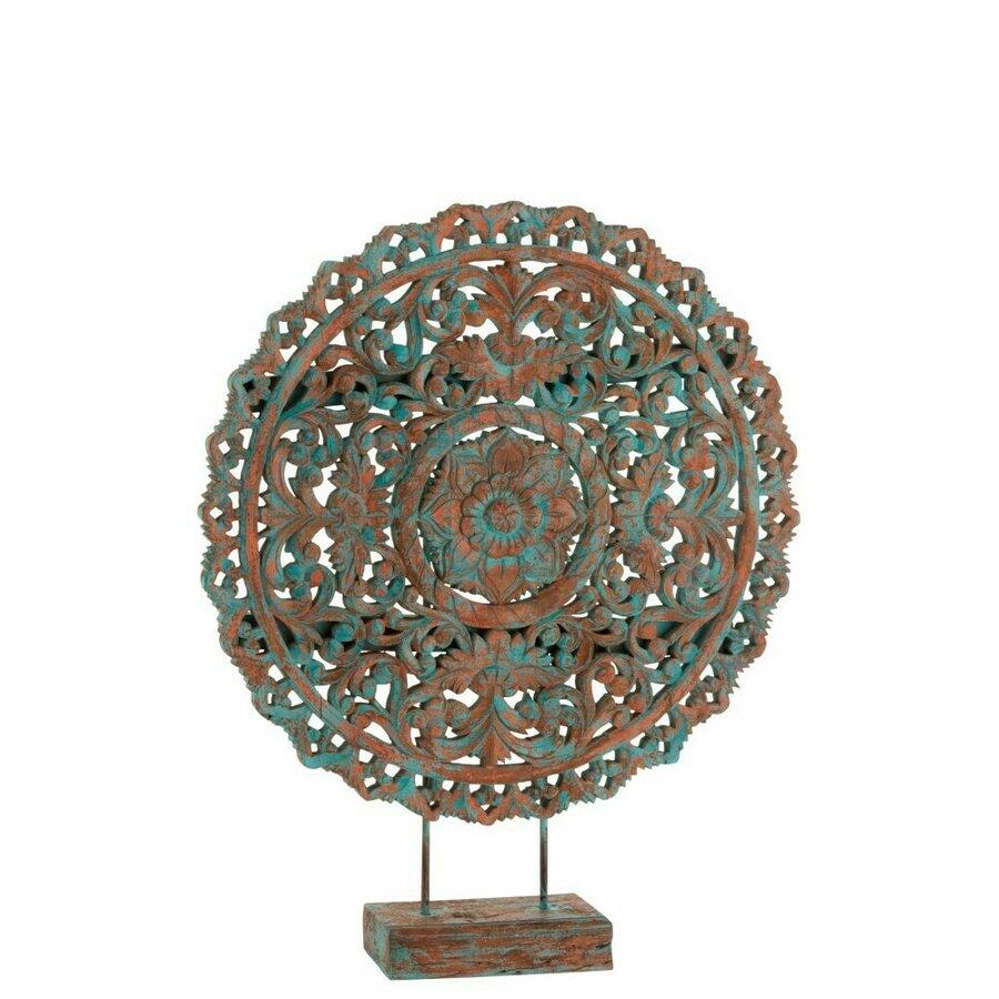 Mandala Decoratiune Lemn Multicolor